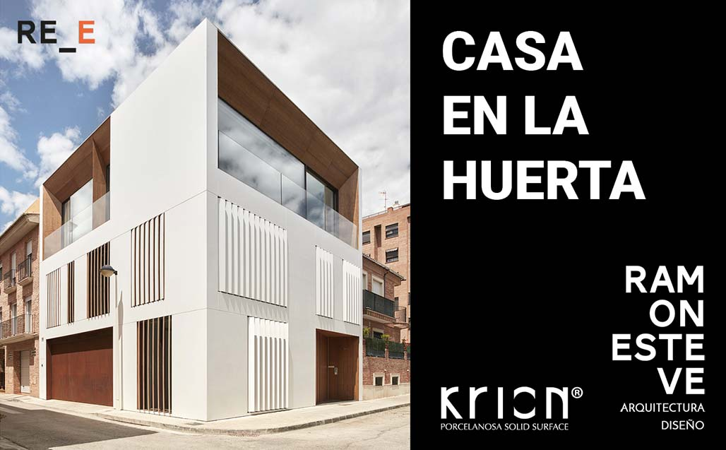 "krion in ""house in the garden"", the project in which ramon esteve reinterprets the valencian garden. Solid Surface  mieszkania"