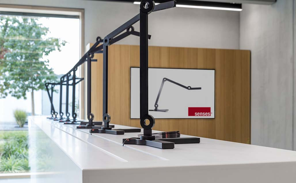 KRION Solid Surface at the central office of STEINEL, leaders in technology and innovation in the lighting sector