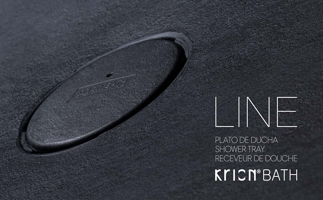 Plato de ducha LINE by KRION Bath la versatilidad y personalización asequible
