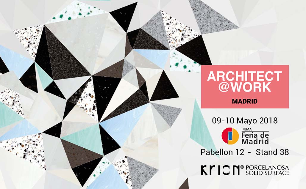 IFEMA hosts Architect@Work Madrid, at which KRION Solid Surface will present all its new products