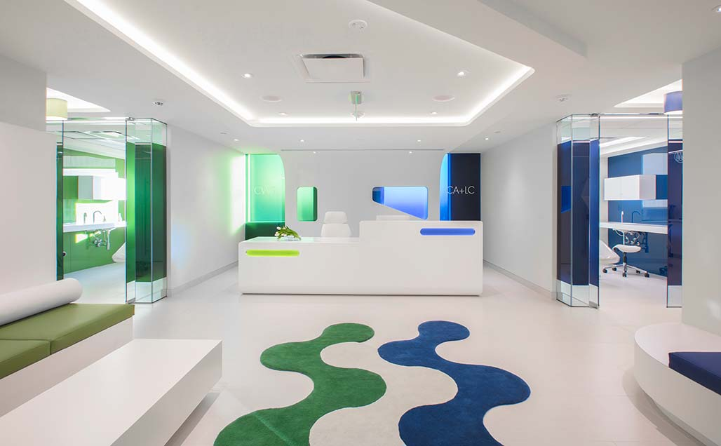FORMA Design moves away from tradition, using KRION Solid Surface in Capital Aesthetic + Laser Center in Washington D.C.