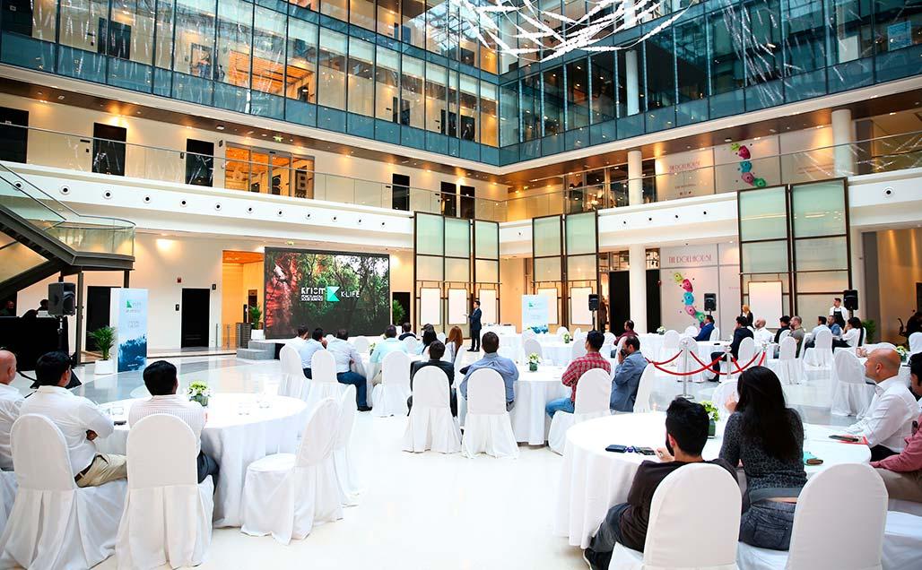 Cloisall presenta nel DubaiDesignDistrict come la nostra qualità di vita possa migliorare con KRION K-LIFE e la sua fotocatalisi