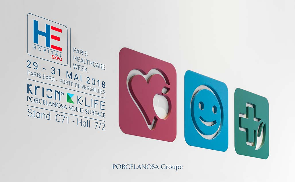 KRION solid surface returns to Hopital Expo Paris, the most prestigious trade fair of the healthcare sector