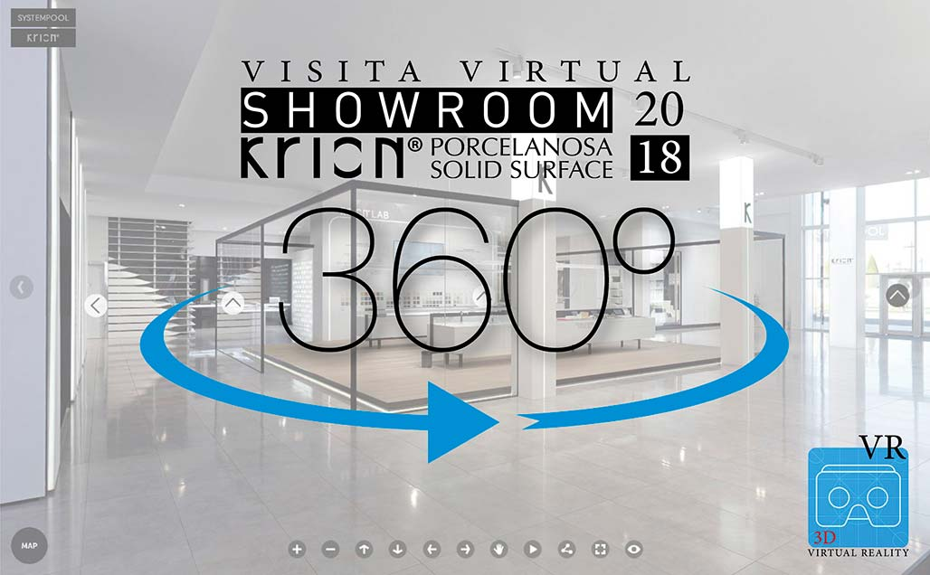 NEU !!! Virtuelle Tour 360 & VR - Showroom KRION 2018
