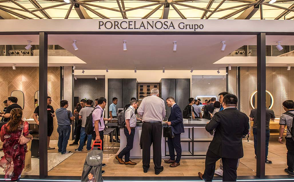 Le Groupe PORCELANOSA et KRION Bath présents au Kitchen & Bath China 2018 (KBC)