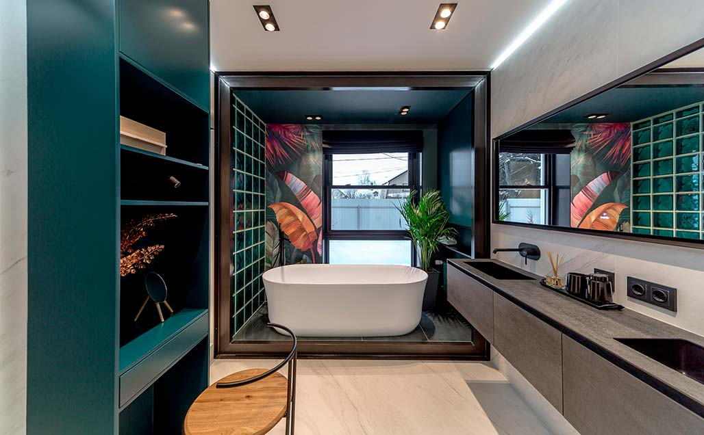KRION Bath Solid Surface in bathrooms designed by Alexey Aladashvili in Rostov (Russia)