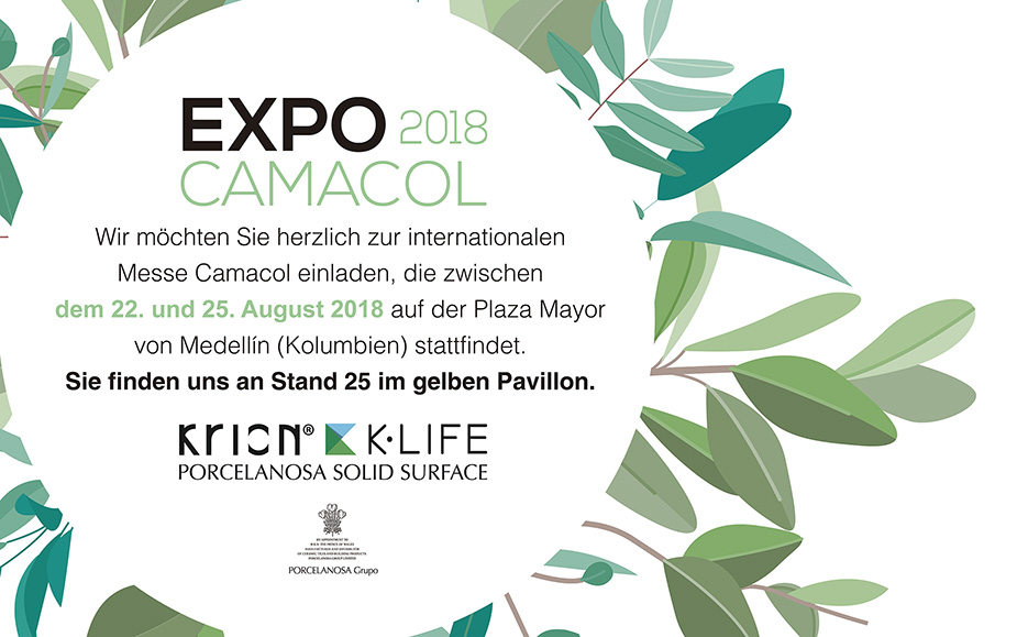 KRION® lädt zur internationalen Bau-, Architektur- und Designmesse EXPOCAMACOL ein