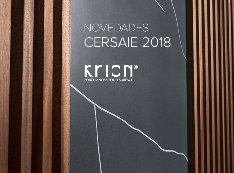 cersaie 2018 – new series and new krion® colours. Solid Surface  locais comerciais e empresas