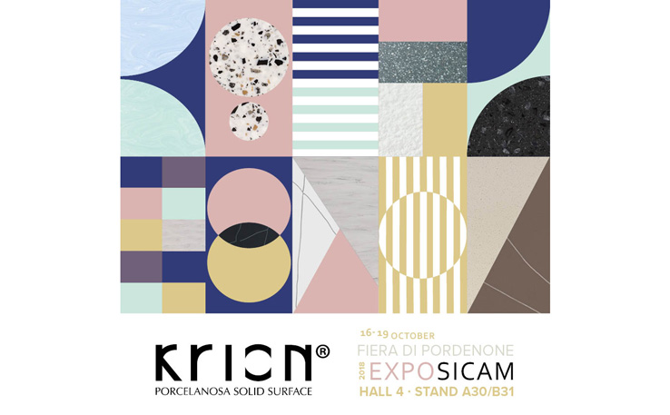 KRIONTM encourages experimentation with the Solid Surface at SICAM 2018