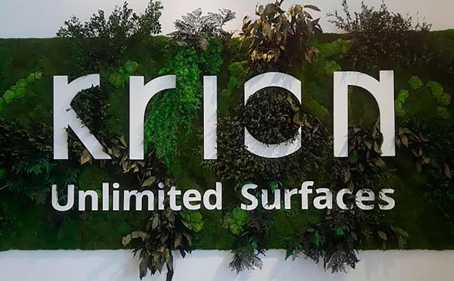 krion® inaugura showroom y nueva marca en la muestra internacional. Solid Surface  diseño