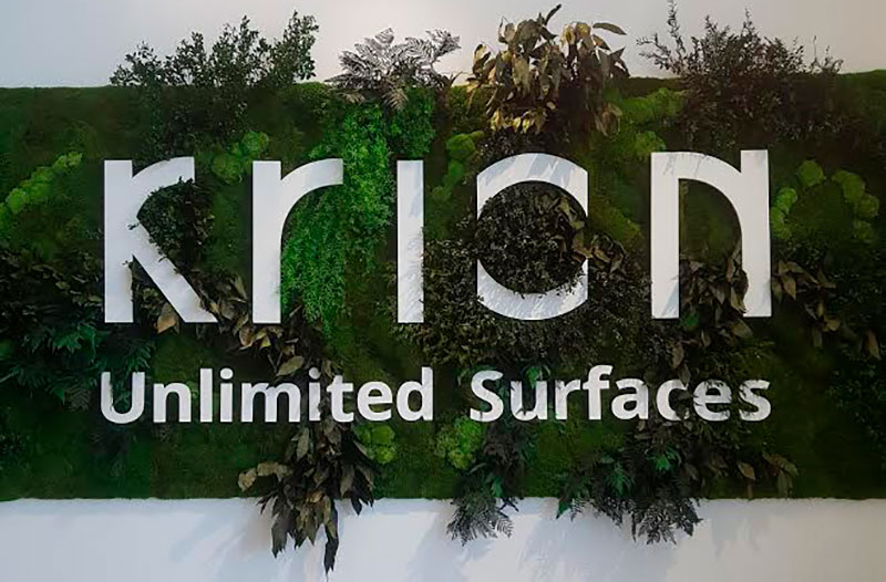 krion™ opens a new showroom and present a new company at the 26th porcelanosa grupo international exhibition. Solid Surface  ontwerp