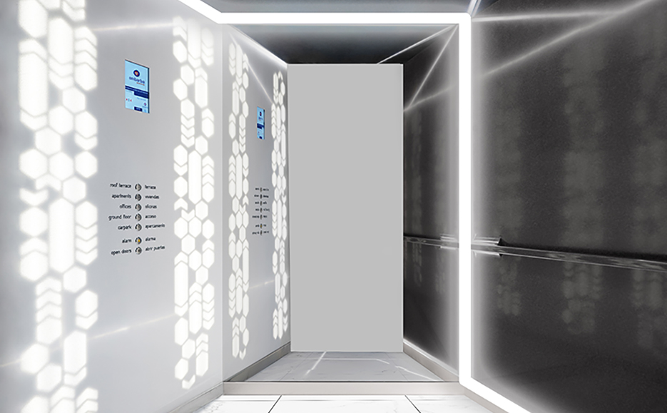 embarba increases the customisation capacity of its lifts with krion™. Solid Surface  design