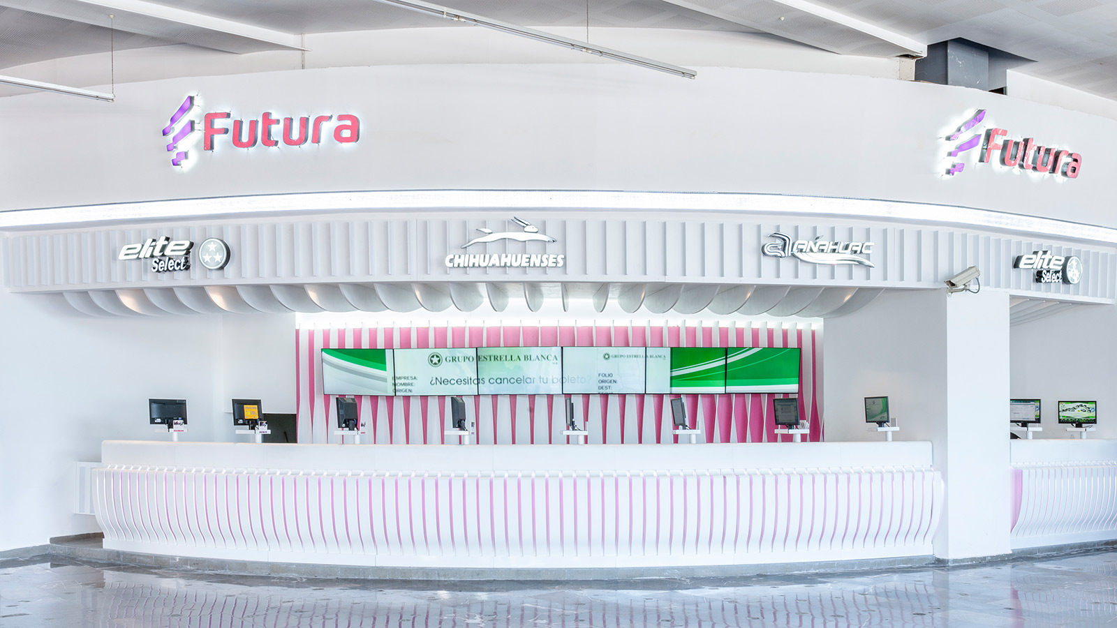 krion k · life: creating a healthy environment in futura's points of sale in mexico. Solid Surface  locali commerciali e aziende
