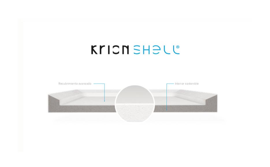 KrionShell, resistencia y sostenibilidad en equipamientos de baño