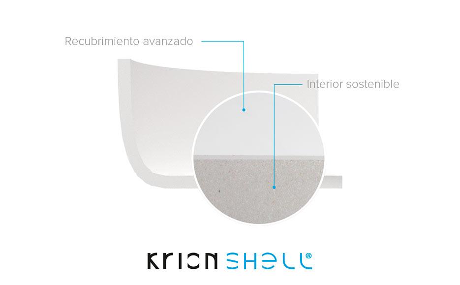 Krion Shell®, resistencia y sostenibilidad en equipamientos de baño