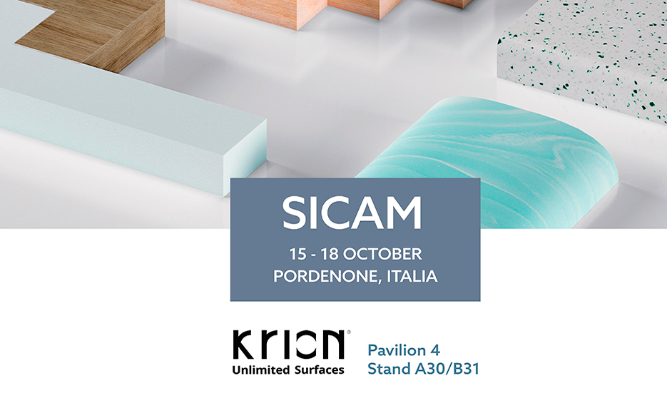 Krion shows its solutions for the furniture industry in SICAM