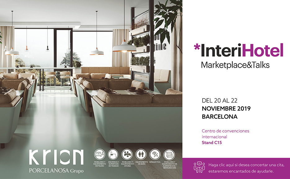 Krion presents its innovations for the hotel sector at the prestigious Interihotel fair