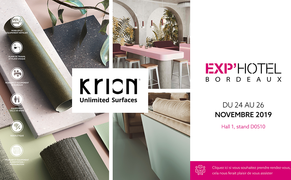 Krion at Exp'hotel Bordeaux: endless possibilities for hotels
