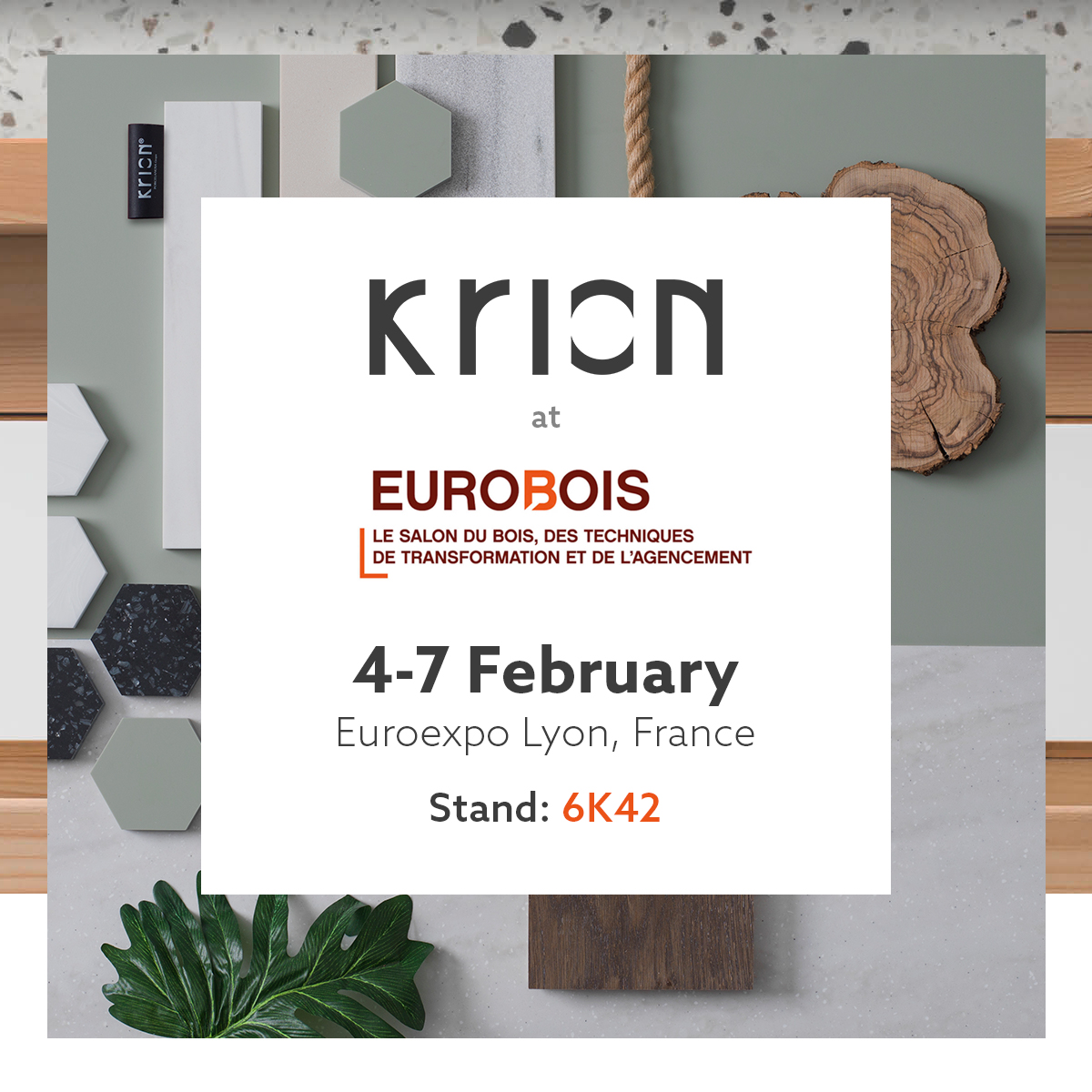 Krion will present its affinity programme and offer free training at Eurobois 2020