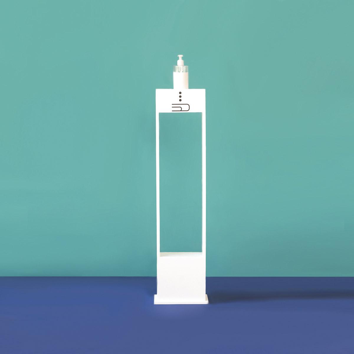 Krion® K·Life es el material elegido por Pauferro para el diseño de sus soportes higiénicos