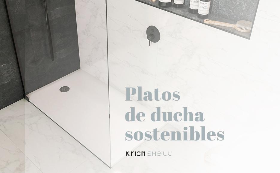 krion shell®, platos de ducha sostenibles. Solid Surface  restauración