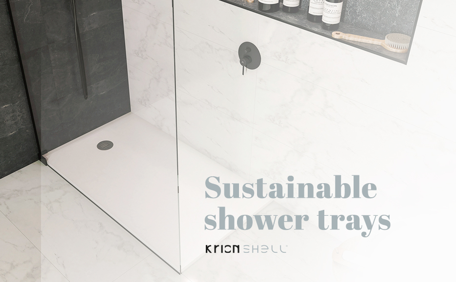 krion shell™, sustainable shower trays. Solid Surface  locais comerciais e empresas