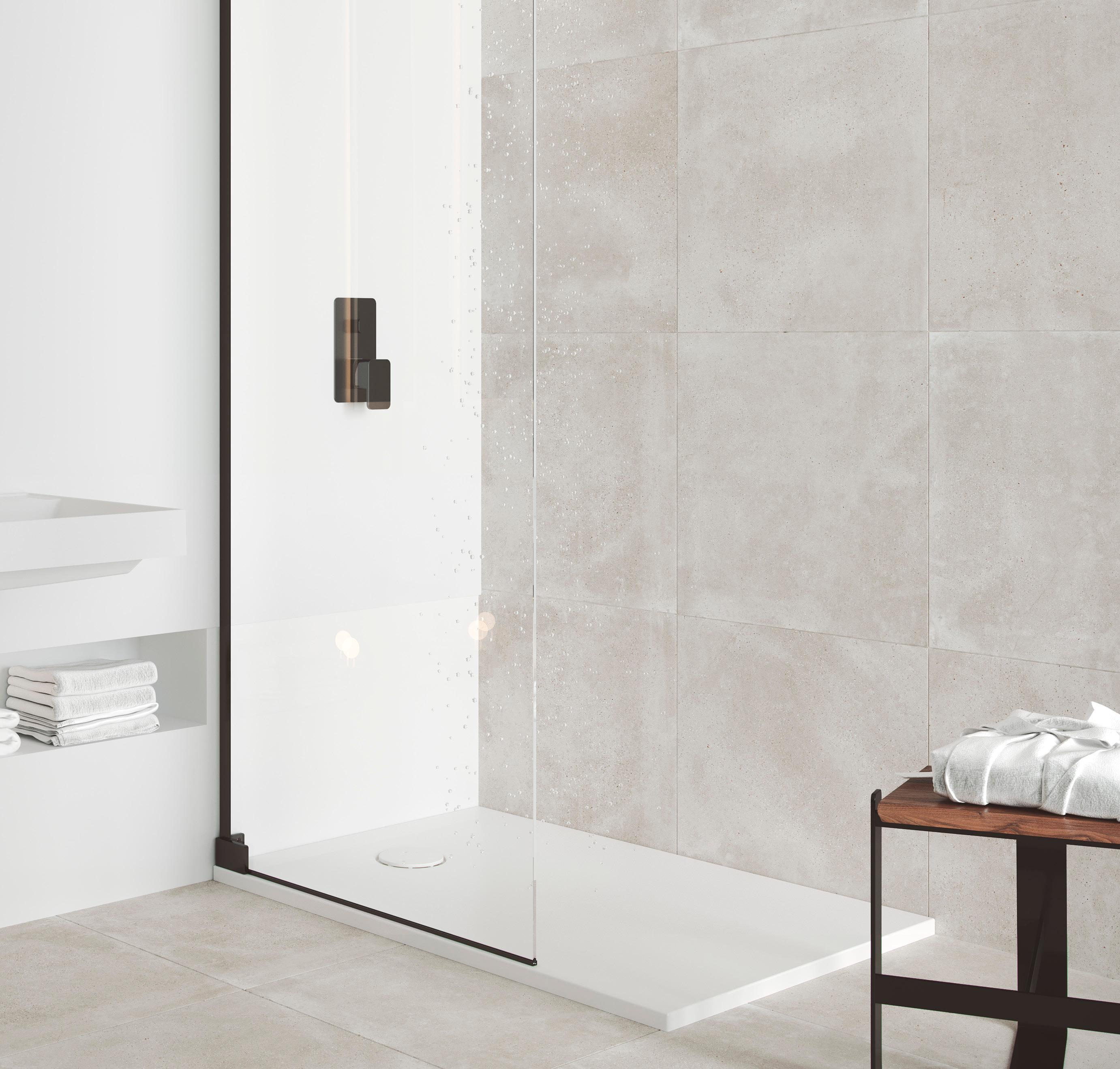 Enjoy an ecological bathroom with Krion Shell™ sustainable shower trays