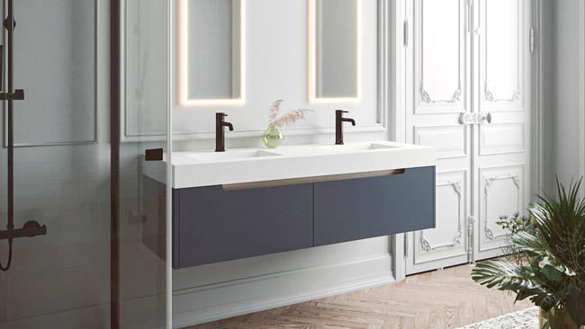 guía para elegir tu encimera de baño. Solid Surface  hoteles