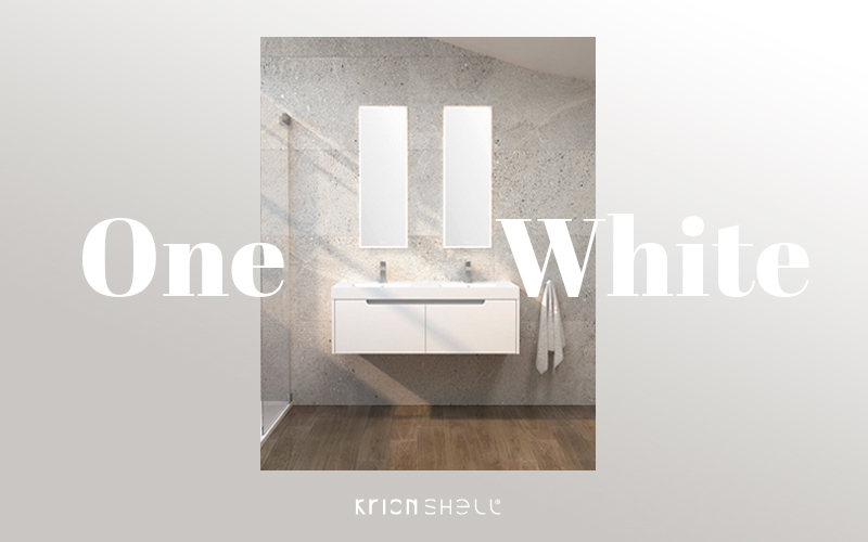 krion™ porcelanosa baths news: white has been added to the one and smart bathroom furniture. Solid Surface  bathroom equipment