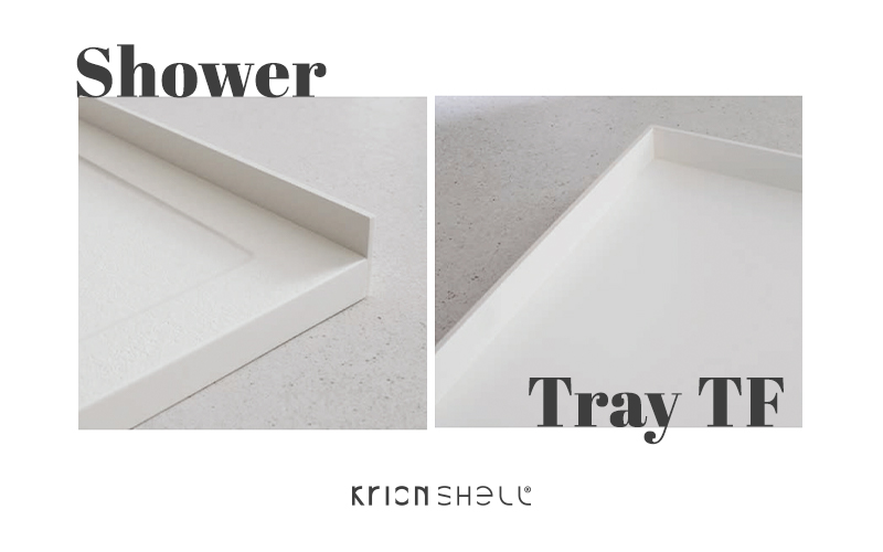 new krion shell™ shower trays: the sustainable slope tf and flow tf models have arrived. Solid Surface  bathroom equipment