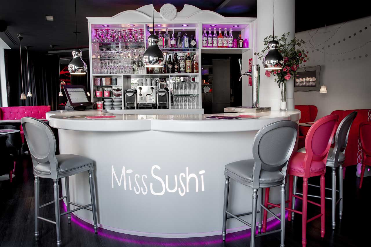 miss sushi – madrid – españa. Solid Surface for restaurant & catering