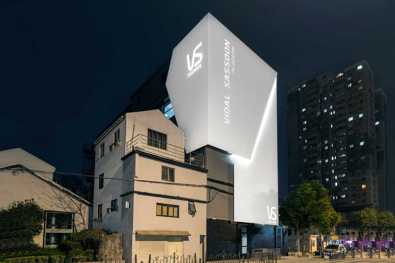 vidal sassoon - shangai - china. Solid Surface para revestimento exterior