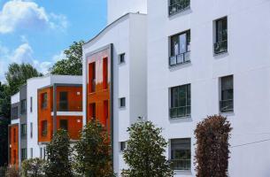 Fachada edificio residencial - Neudon - Francia