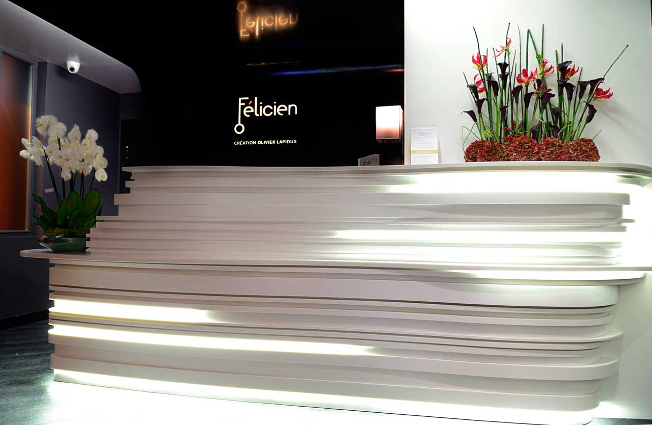 hotel felicien - parís - francia. Solid Surface for commercial furniture