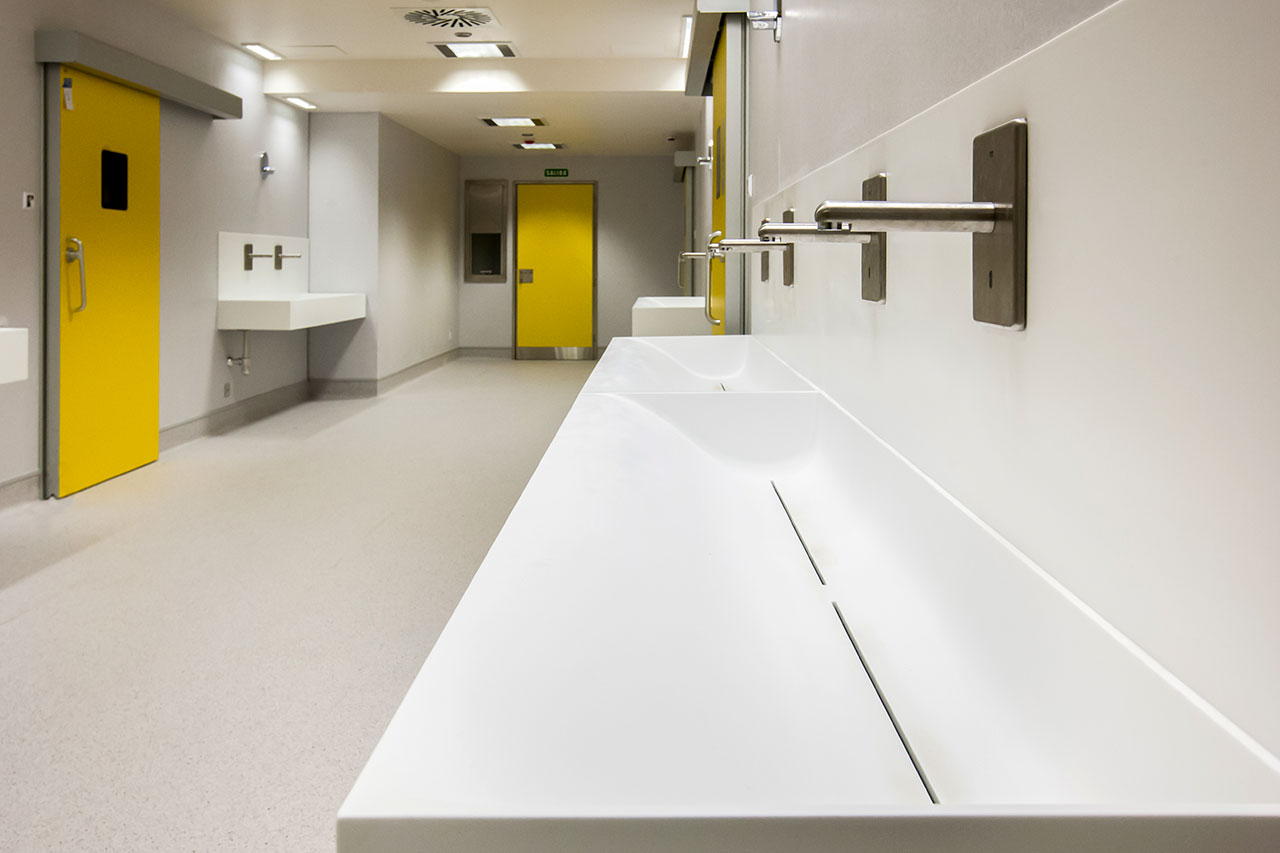 hospital universitario a coruña (chuac) - a coruña - galicia. Solid Surface  werkbladen