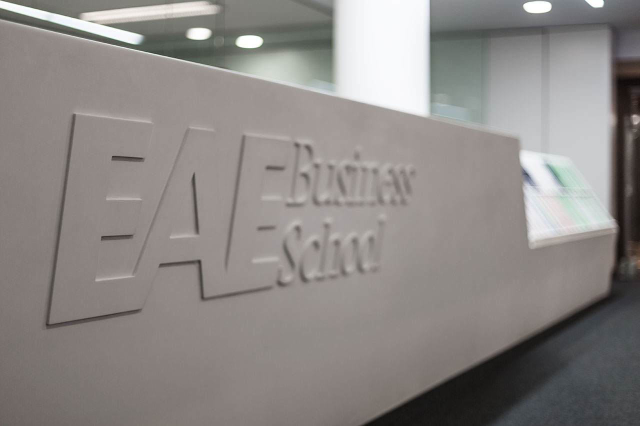 eae business school - barcelona - españa. Solid Surface for commercial & business premises
