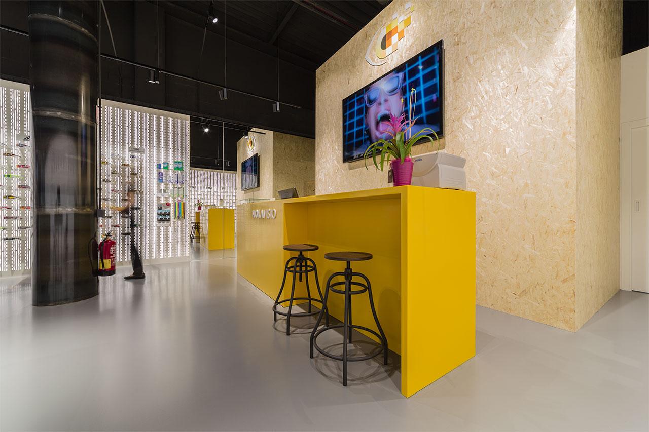 holavisio - san cugat - barcelona - españa. Solid Surface  locaux commerciaux et entreprises