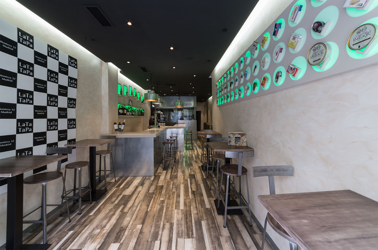 lata tapa - madrid  -españa. Solid Surface for restaurant & catering
