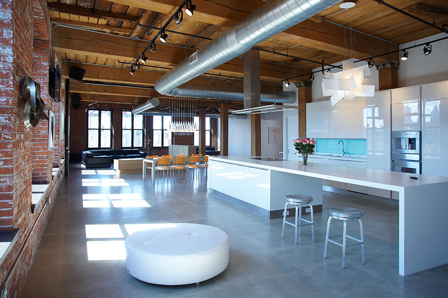 loft - philadelphia - usa. Solid Surface для Жилые объекты