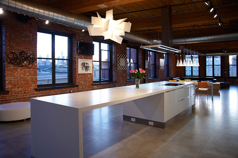 loft - philadelphia - usa. Solid Surface para casas