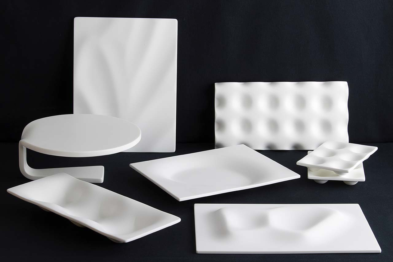platos de pizarra. Solid Surface for design
