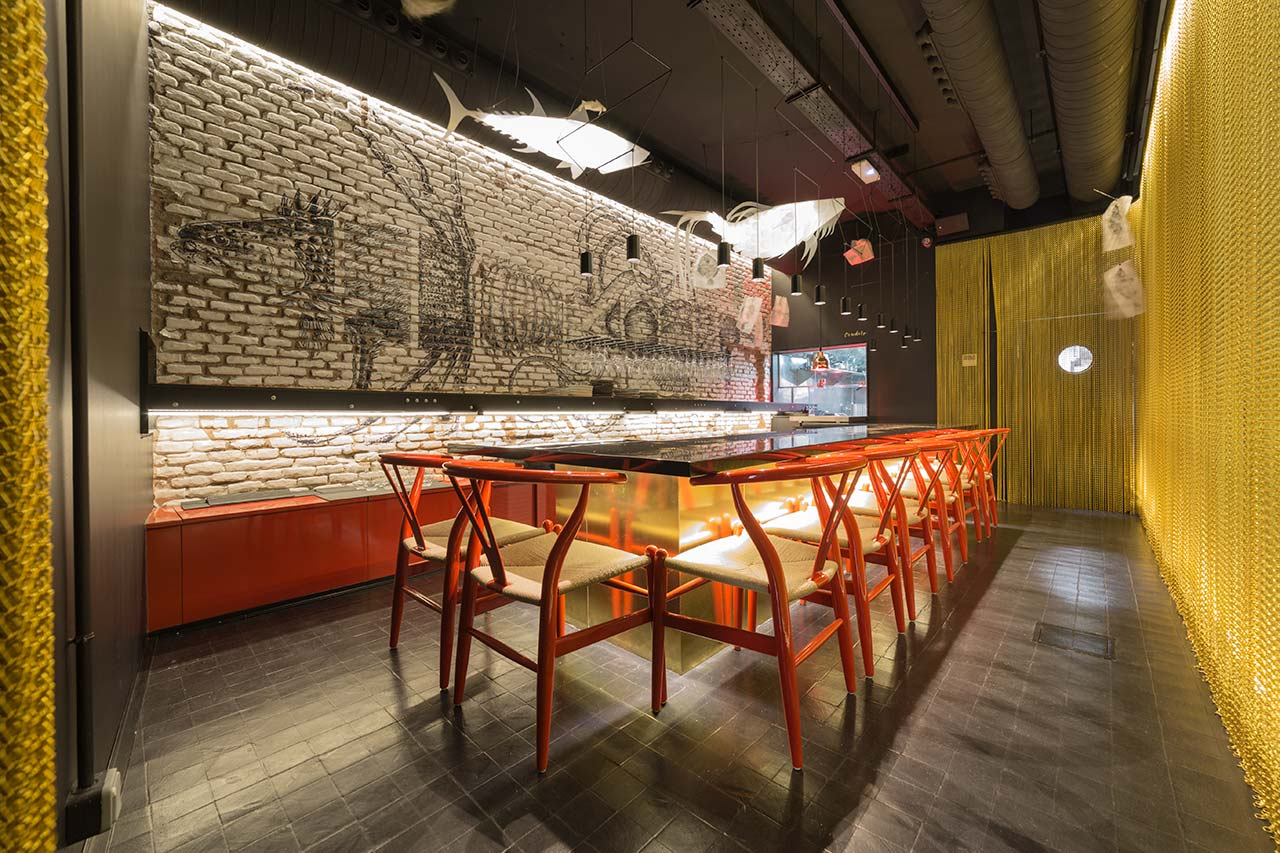 crudito restaurant - madrid - spain. Solid Surface 的 餐饮设施