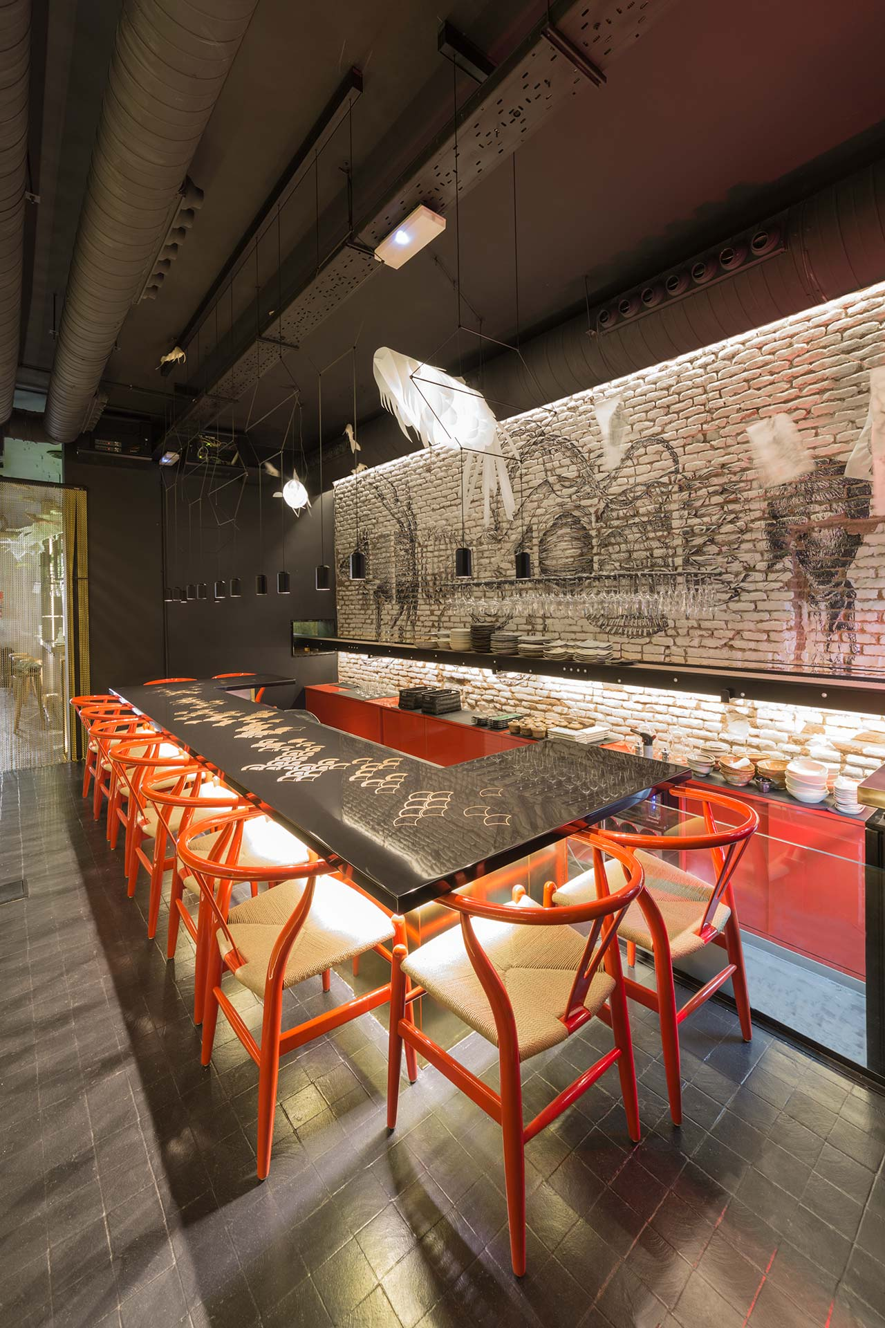 crudito restaurant - madrid - spain. Solid Surface  Рестораны