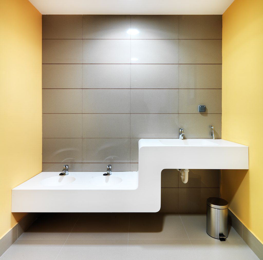 guarderia municipal villanubla (valladolid). Solid Surface for bathroom equipment