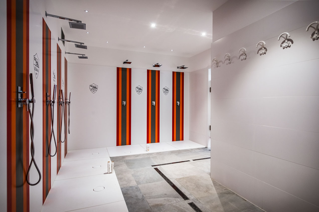 the sports complex of a.s. roma - roma - italy. Solid Surface for bathroom equipment