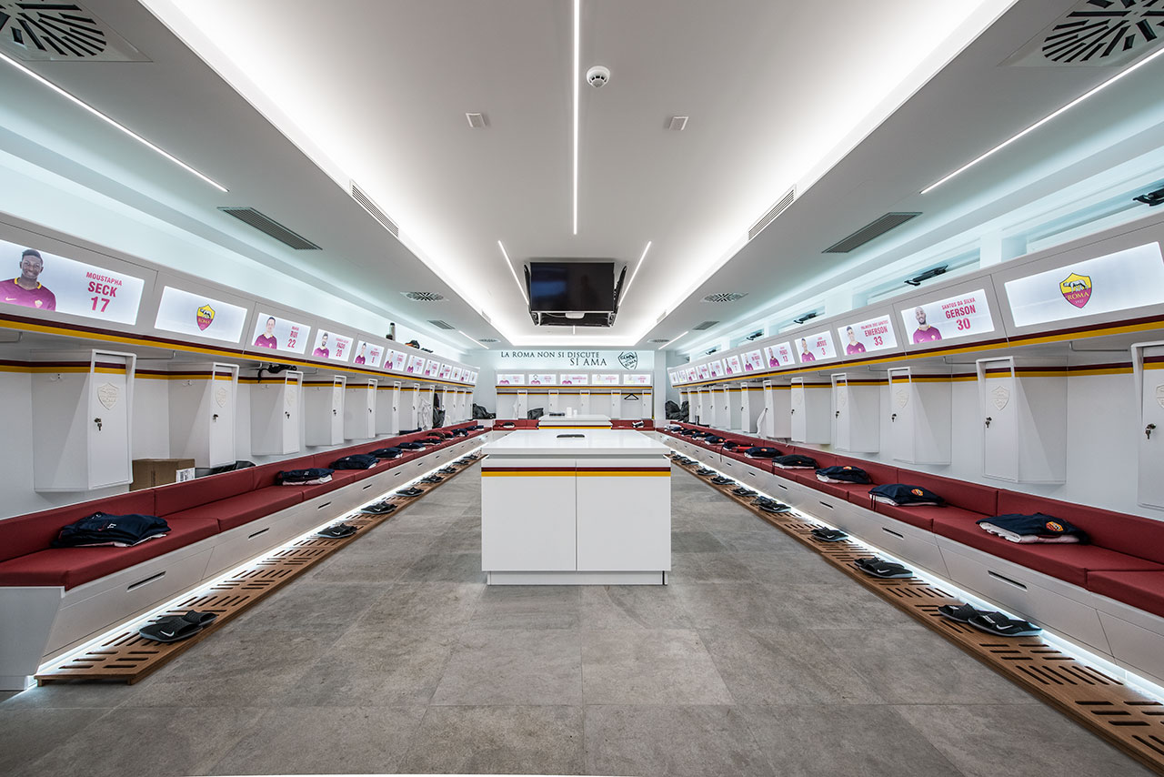 the sports complex of a.s. roma - roma - italy. Solid Surface  wall tiles