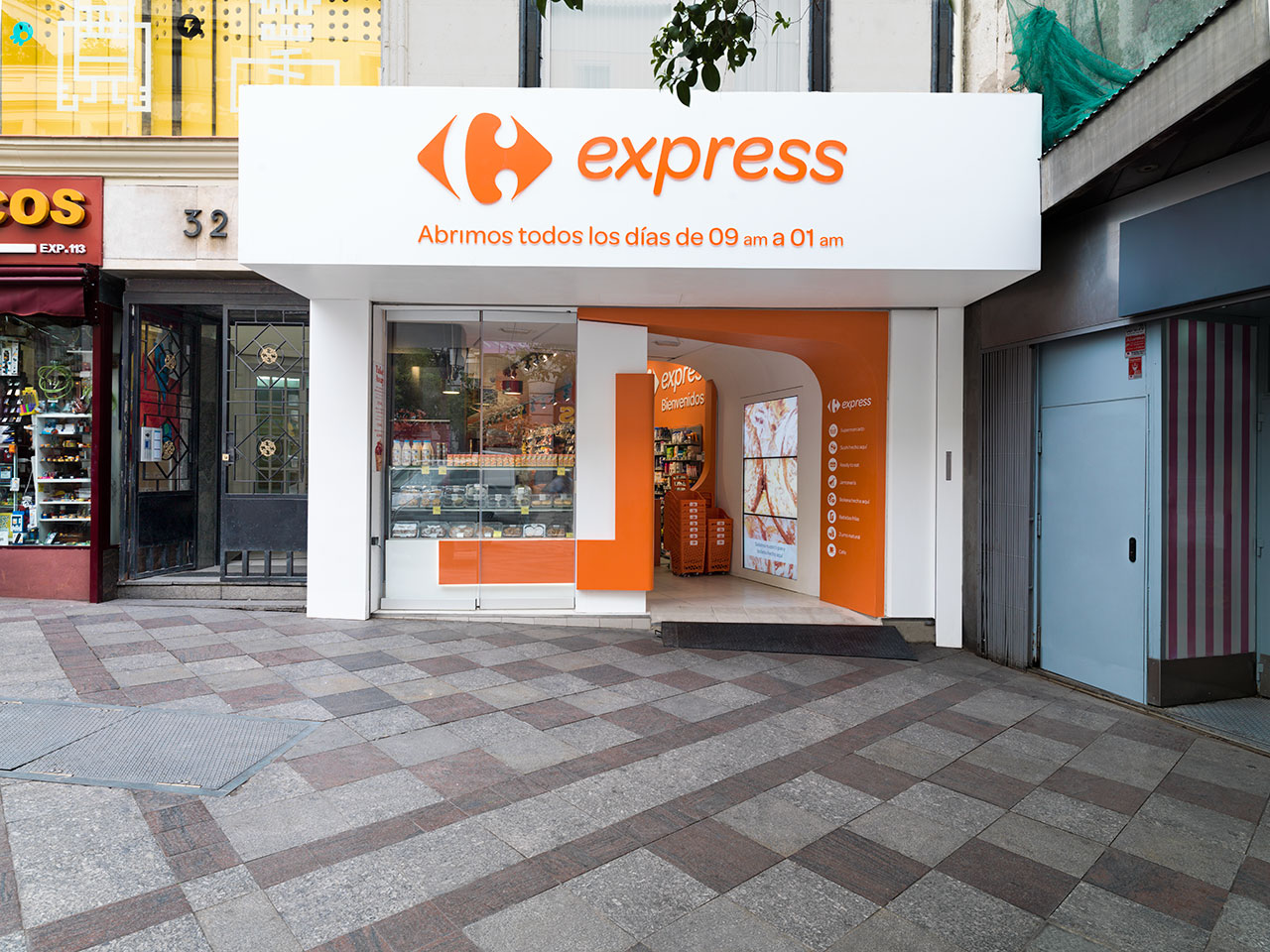 carrefour express - madrid - spain. Solid Surface  商业和商务经营场址