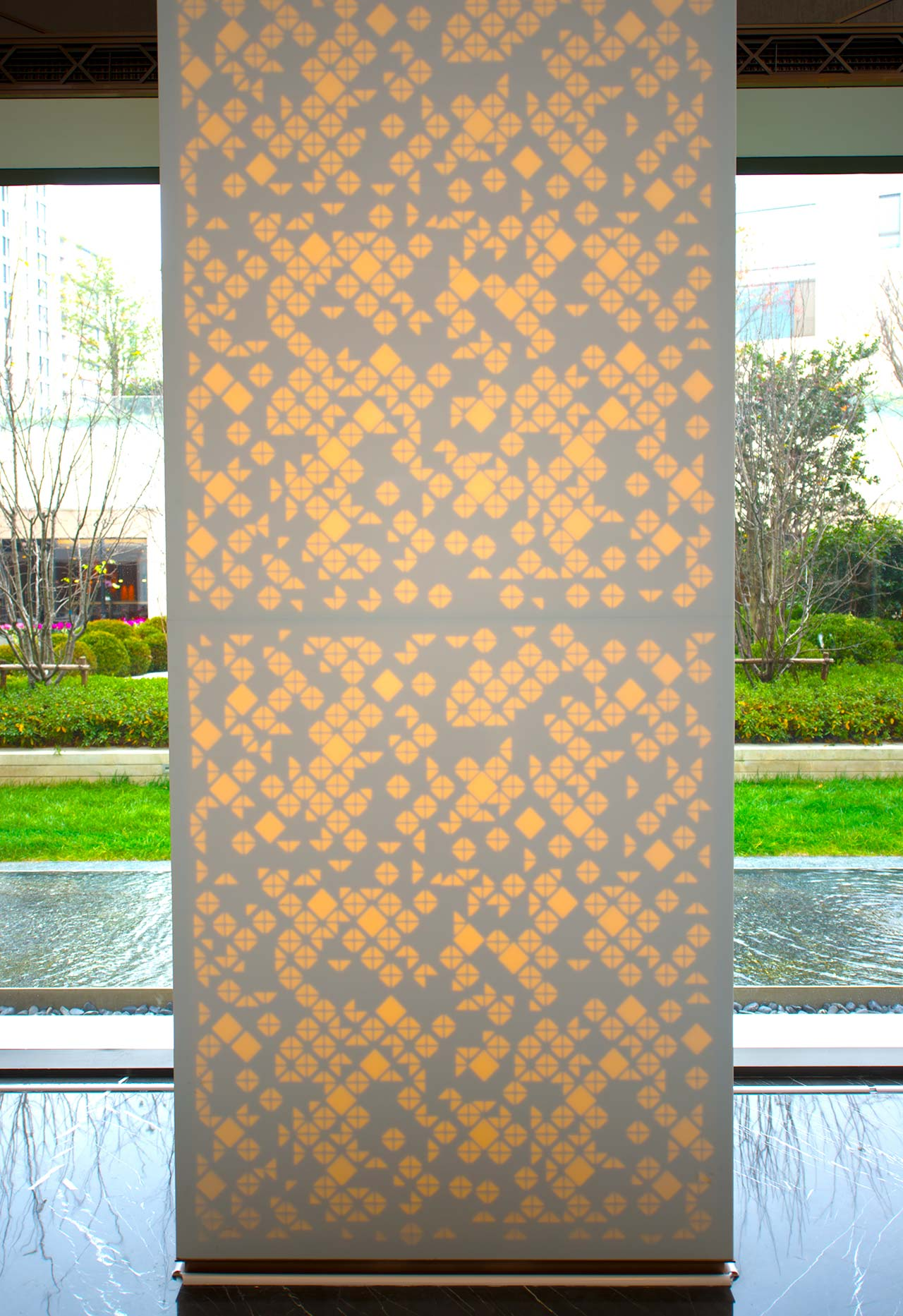 one park - shanghai - china . Solid Surface  wall tiles