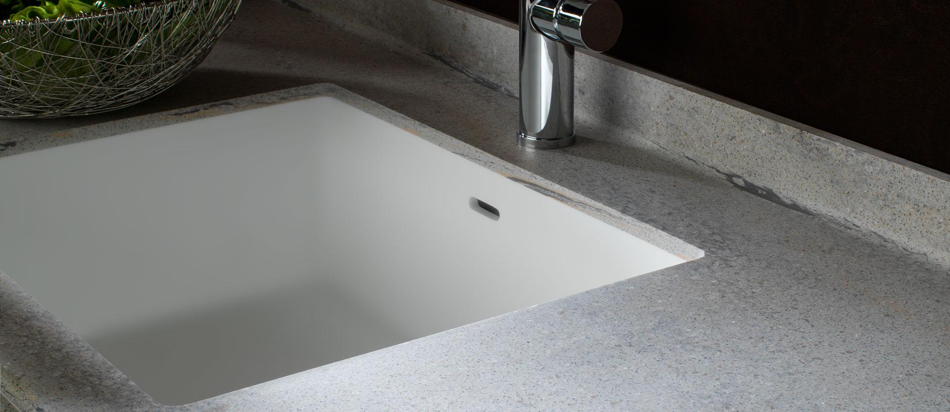 Spülbecken für die Küche aus Mineralwerkstoff|Solid Surface KRION®