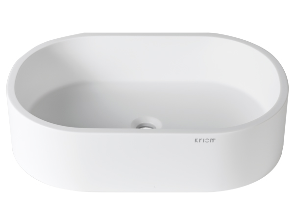 Solid Surface Washbasins 3-Way B414 60x40 ON TOP